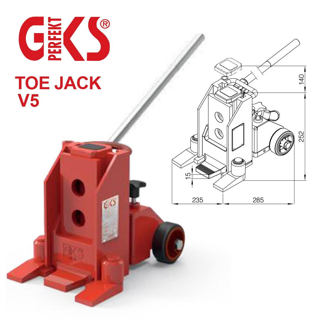 Toe Jack V5 for heavy loads up to 5 tons